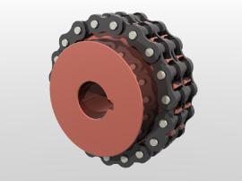 GL滚子链联轴器_链条联轴器尺寸表_链轮联轴器规格