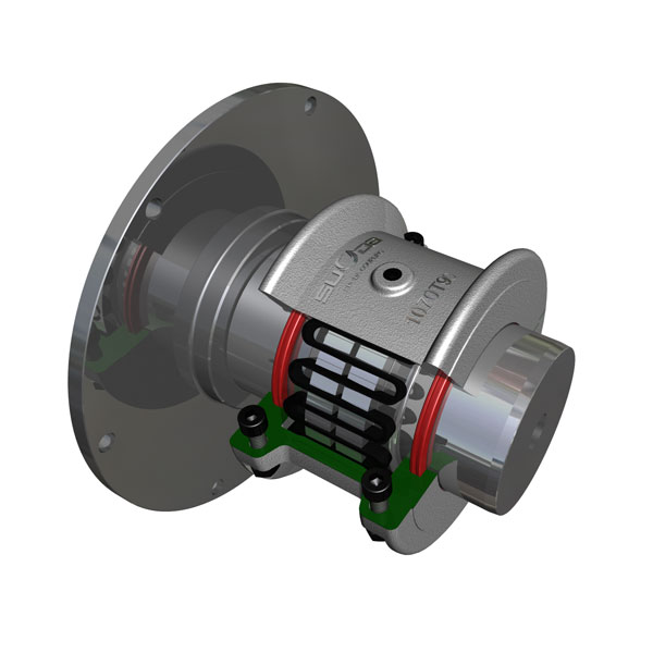 JSP型带制动盘型蛇形弹簧联轴器_替代福克T63蛇形弹簧联轴器
