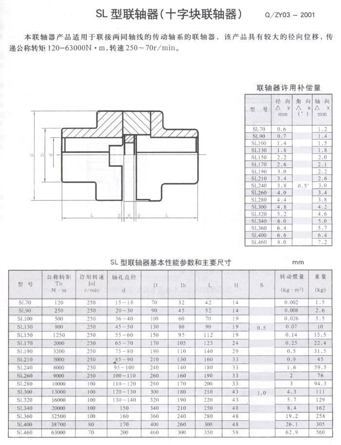 sl360滑块联轴器